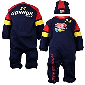nascar baby clothes #24 Jeff Gordon Newborn Coverall and Hat