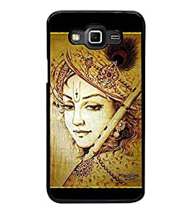 Printvisa Ultra Lord Krishna 2D Hard Polycarbonate Designer Back Case Cover for Samsung Galax...