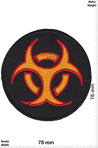 Patch - BIOHAZARD VIRUS - gold red - Musica - Biohazard - Biohazard- toppa - applicazione - Ricamato termo-adesivo - Patch""