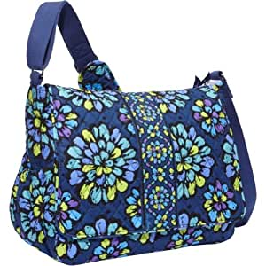 vera bradley messenger baby bag indigo pop vera bradley diaper bag messenger. Black Bedroom Furniture Sets. Home Design Ideas