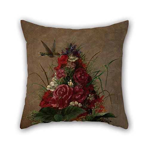 Oil Painting William Merritt Chase - Still Life With Hummingbird Pillowcover ,best For Play Room,wedding,kitchen,divan,car,study Room 16 X 16 Inches / 40 By 40 Cm(both Sides) (Hummingbird 35 compare prices)