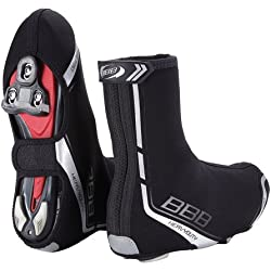 BBB Heavyduty - Botín térmico de ciclismo para hombre, color negro, talla 45-46