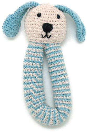 Organic Bunny Rattle - Duck Egg Blue - 1