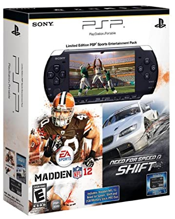 PSP Madden 12 and Need for Speed Shift Entertainment Pack
