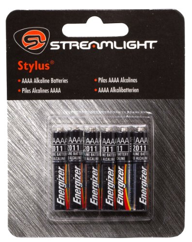 Streamlight 65030 Stylus Aaaa Replacement Batteries, 6-Pack