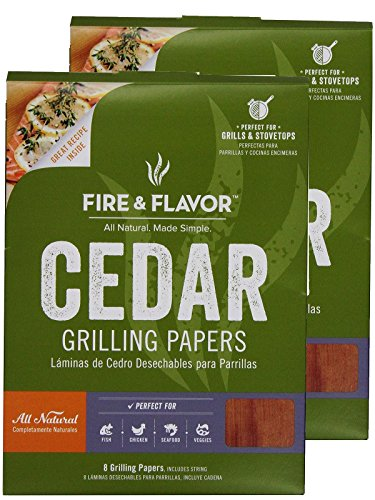 Best Buy! Fire & Flavor 6 x 7.25 Inch Western Red Cedar Wraps (8 Papers), 2 Ounce Package (Pack ...