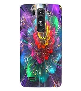 ColourCraft Digital Flower Design Back Case Cover for LG G3 S