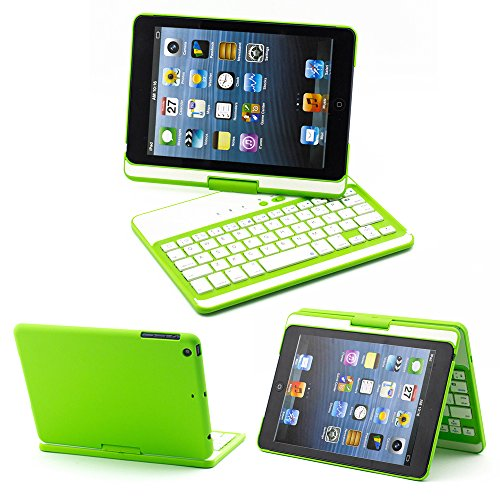 YIPBOWPT iPad Mini Keyboard Case.Wireless Bluetooth Keyboard For 7.9 Inch New Mini iPad with IOS Commands. Folio Style Cover with 360 Degree Rotating Viewing Stand Feature.Color:Green