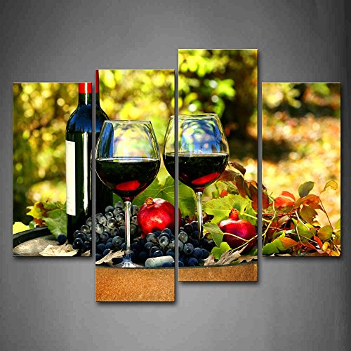 Wine With Berry Wall Art Painting Pictures Print On Canvas Food The Picture For Home Modern Decoration