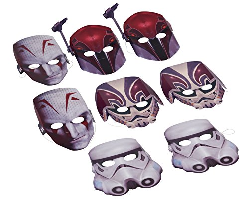 American Greetings 645416939706 Star Wars Rebels Masks, 8 Count, Party Supplies Novelty - 1