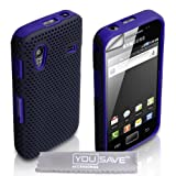 """Yousave Accessories TM Samsung Galaxy Ace S5830 Blau Masche Zwei Teil Silikon H�lle Tasche Mit Displayschutzvon """"Yousave"""""""