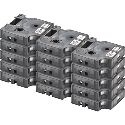 15x-compatible-dymo-d1-45013-casetta-a-nastro-nero-su-bianco-black-on-white-12mm-x-7m-suitable-for-d