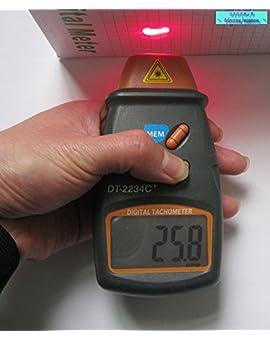 プロペラ / モーター 回転 数 などの 測定 に!! 非接触 レーザー 式 デジタル タコメーター (黒)