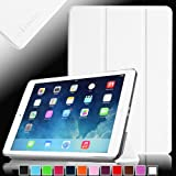 Fintie SmartShell Case for Apple iPad Air (iPad 5 5th Generation) Ultra Slim Lightweight Leather Stand (with Smart Cover Auto Wake / Sleep) – White Reviews