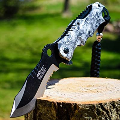 """8"""" M-TECH Blade Tactical FOLDING POCKET KNIFE Bowie Switch"""