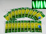 50pcs 10bags 4 5 37mm Float Glow Stick Night Fishing Green