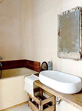 XLAB piano lavabo in legno di abete color vintage da bagno misure 120x40x5