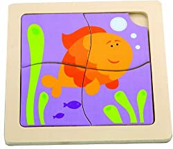The Original Toy Company First Puzzle - Happy GoldFish