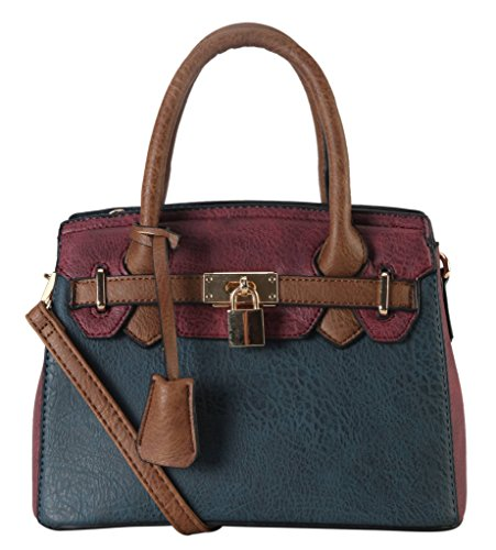 diophy-pu-leather-two-tone-front-lock-decor-mini-top-handle-tote-womens-purse-handbag-accented-with-