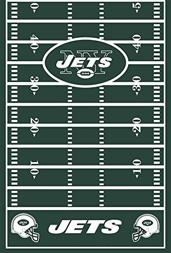 "DesignWare New York Jets Plastic Table Cover, 54 by 102"" - 1"
