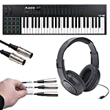 Alesis VI49 | Advanced 49-Key USB MIDI Keyboard & Drum Pad Controller (16 Pads / 12 Knobs / 36 Buttons) + Label Kit + MIDI Cable + Headphones - Top Value Kit!