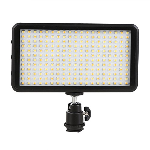 GIGALUMI W228 LED Video Light 6000k Dimmable Ultra Bright Panel Digital Camera / Camcorder Light, LED Light for Canon, Nikon, Pentax, Panasonic, Sony, Samsung and Olympus DSLR Cameras (Professional Led Video Light compare prices)