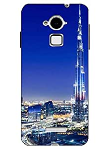 Case Cover Burj khalifa Printed Multicolor Hard Back Cover For CoolPad Note 3