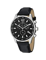 Grovana Men's Black Dial Quartz Chronograph Watch 7015.9537