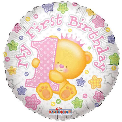 18 Inch SV First Birthday Girl Balloon