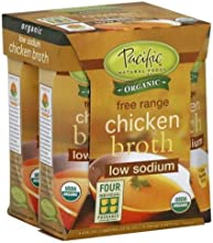 Pacific Natural Foods Chicken Low Sodium 4 x 800 OZ Pack of 6