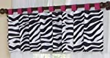 Sweet Jojo Designs Funky Zebra Window Valance