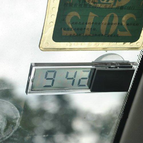 Unique Auto Car Window Dashboard Digital Transparent Lcd Watch Clock Dr