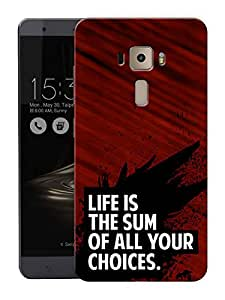 """Life And Choice Motivational QuotePrinted Designer Mobile Back Cover For """"Asus Zenfone 3 Ze552kl"""" (3D, Matte, Premium Quality Snap On Case)"""