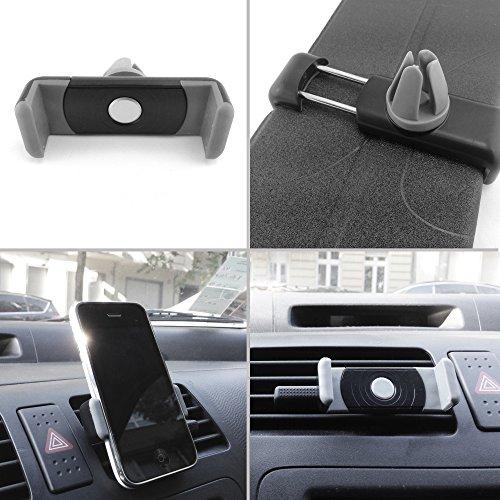 Smartphonehalterung am Lüftungsauslass passend für Samsung GALAXY S4 mini i9195i 8GB black Android Smartphone - Lüftungsauslässe, Smartphonehalterung, Handyhalterung, Armaturenbretthalterung, Carholder - Handy-, Smartphone-, Auto-, Kfz-, PKW-, Befestigung, Halterung