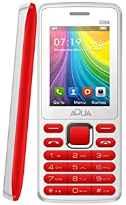 Aqua Shine Dual SIM Basic Mobile Phone White Red