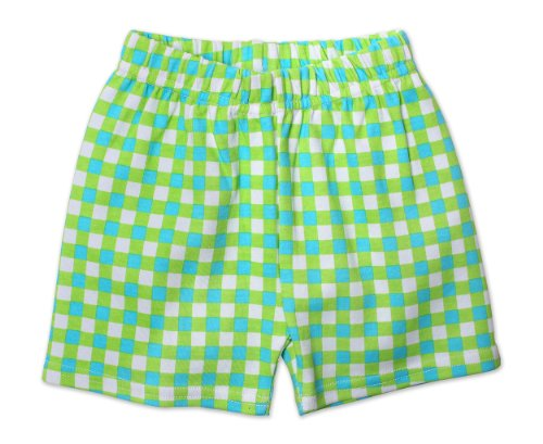 Zutano Unisex-Baby Infant Fair And Square Short, Lime, 24 Months