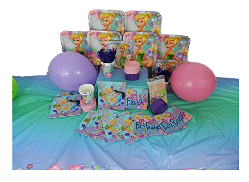 Tinker Bell Deluxe Birthday Party Pack for 8 - Complete with 150 Pieces