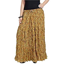 SHREEMANGALAMMART Fashionable Ethnic Cotton Short Skirt (Multi)(SMSKT574)