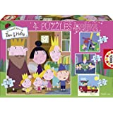 Puzzles Educa - Ben & Holly, puzzles progresivos: 12 - 16 - 20 - 25 piezas (Educa Borrás 15776)