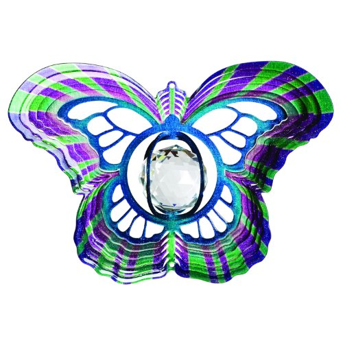 Iron Stop D7515-6 Crystal Butterfly Spinner, 6-Inch
