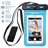Voxkin ® ★ PREMIUM QUALITY ★ Universal Waterproof Case including ARMBAND ✚ COMPASS ✚ LANYARD - Best Water Proof, Dustproof, Snowproof Bag for iPhone 6S, 6, 6 Plus, 5, Galaxy S6, Note 4 or Any Phone