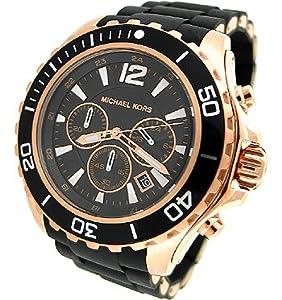 michael kors chronograph silicone mens mk8269