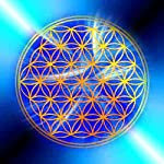 Blume des Lebens - Energiebild, Magnet, blau - Motiv 2