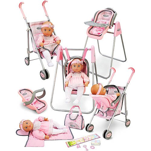 Little girls will love playing with this graco baby doll play set