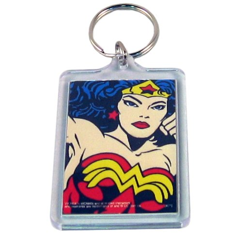 Wonder Woman Mirror Keychain (Closeup)