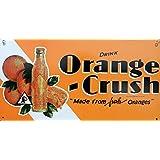 Orange Crush Metal Sign