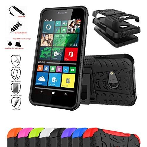 Microsoft Lumia 550 Custodia,Mama Mouth Duro Shock Proof copertura Rugged Heavy Duty Antiurto in Piedi Custodia caso Case per Microsoft Lumia 550,Nero