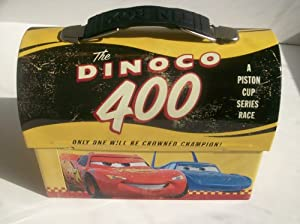 Cars Disney Collectible Tin Vintage style Lunch Box - The Dinoco 400
