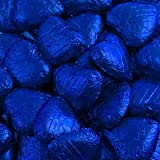 500g Foil Wrapped Chocolate Hearts - Midnight Blue