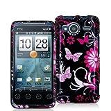 Pink Butterfly Flower Design Crystal Hard Skin Case Cover for HTC Sprint EV ....